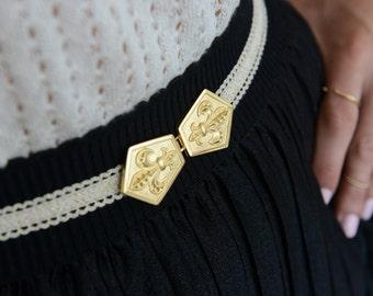 Wedding belt, Ivory Waist Belt, Wedding Gown Belt, Wedding Dress Belt, bridal Accessories, Ivory lace belt - bridesmaid belt - Fleaur de lis