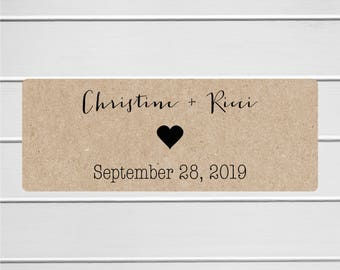 Save The Date Stickers, Kraft Save the Date, Kraft Wedding Envelope Seals, Kraft Wedding Stickers, Kraft (#197-2-KR)