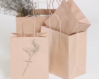 5 Kraft paper shopping bags, gift bags, Kraft bags, paper bags, shopping bags, Kraft bags, party supply, favor bags,small paper bag
