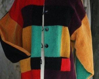Jacket velvet woven hand lirette
