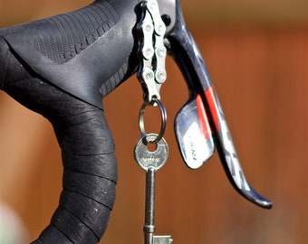 Bicycle Chain Keyring - made from recycled Sram chain