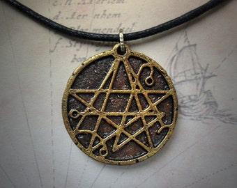 Necronomicon Necklace - handmade hp lovecraft gothic horror