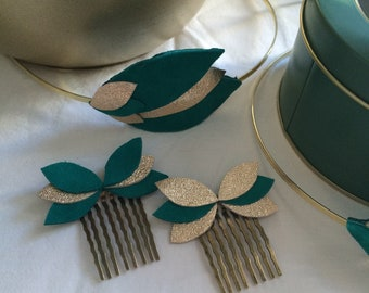 Leather hair comb