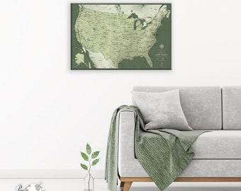 US Travel Map For Couple  / US Travel Map / Push Pin Couple Map / Couple US Pin Map / Push Pin map