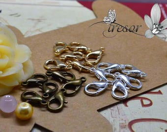 Accessories, 12mm, bronze antique, pale gold, silver