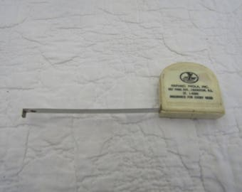 Vintage Tape Measure in case with Advertising SALE
