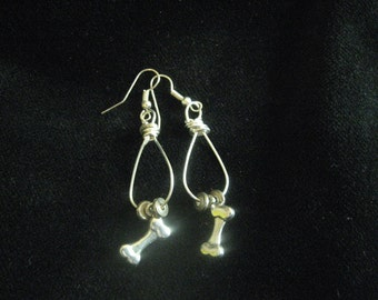 Silver Bone Earrings