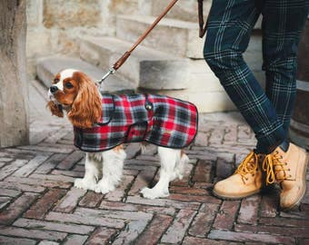 Stylish Tartan Dog  Coat - Dog Coat - Dog Clothing - Pet Clothes - Available to Any Breed