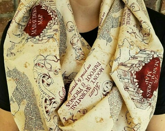Harry potter scarf etsy the marauders map harry potter scarf gumiabroncs Gallery