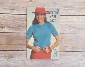 Sweaters Made Easy Chunky Sweater Pattern 80s Bold Sweater 1980s Fashion To Make Bold Statement Piece Fair Isle Sweater Set 80s Lady Sweater
