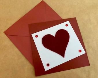 Handmade, Hand-Cut, Greeting Card - Valentine's, Birthday, Anniversary, Love