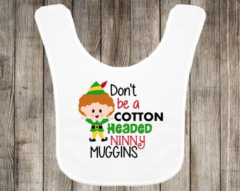 Cotton Headed Ninny Muggins Christmas Baby Bib