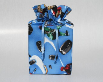 Blue Hockey Tissue Box Cover Hockey Kleenex Box Cover Blue Tissue Box Cover Tissue Box Holder Kleenex Box Holder Sports Bathroom Accessories