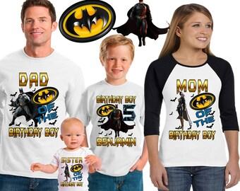 Batman birthday shirt /Batman shirt /family matching shirts/batman the  dark knight rises birthday party shirt /batman/ family shirts