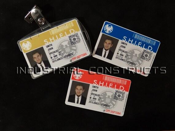 Agents of S.H.I.E.L.D Custom ID Card Original Style / Badge