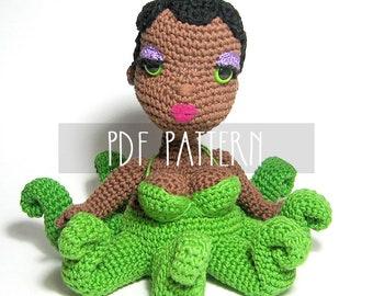 PDF PATTERN - EN - Crochet written tutorial for amigurumi doll - Octopus Mermaid Ocean's Diva - ooak