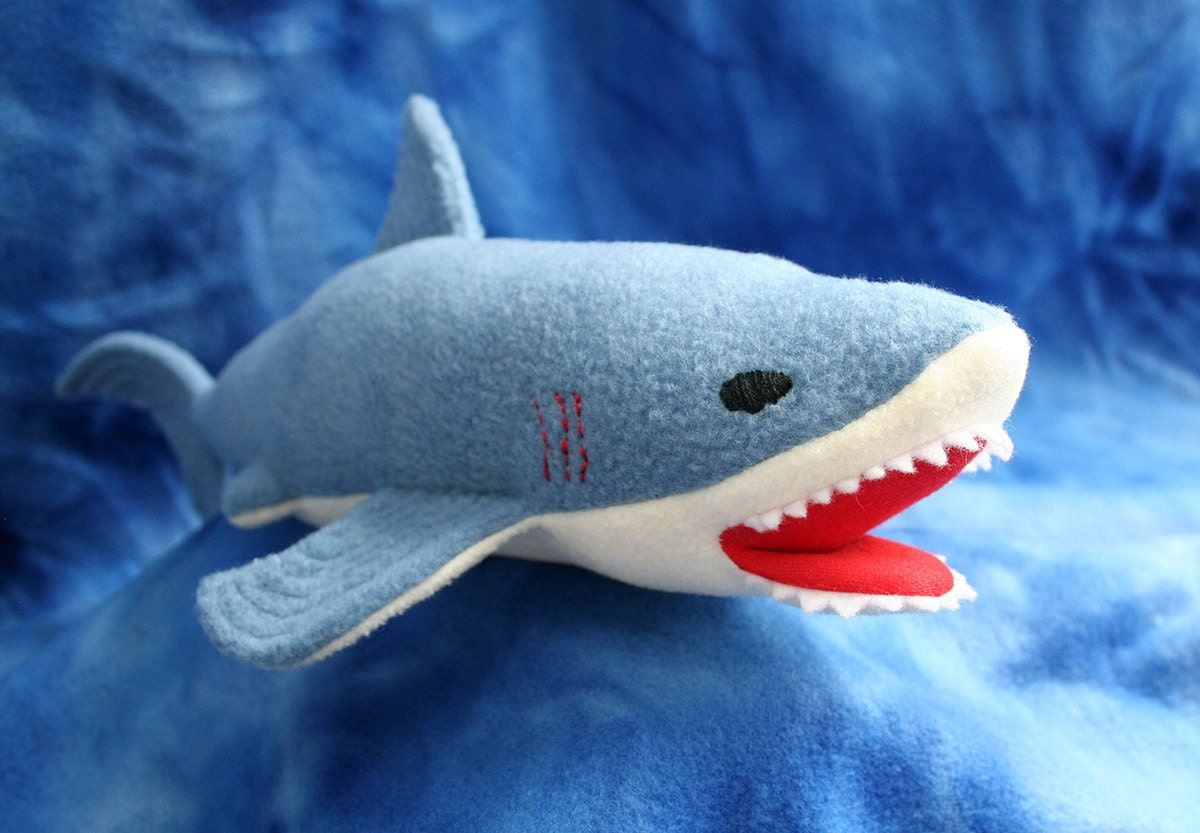 Shark softie pdf sewing pattern make a soft toy for your zoom jeuxipadfo Image collections