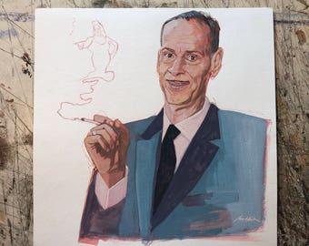 Hand painted portrait of John Waters- unframed