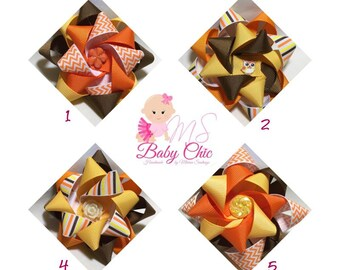 Fabric Hair Bow - Girls Hair Bow – Prints, Dolls, Owls, Flowers, Assorted Colors -  Non Slip Hair Bow