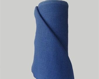 Linen Fabric - Indigo Blue - Cornflower Blue - 100% Linen - Pure Linen - Helen Round - Helen Round Designs