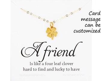 Four leaf clover necklace,shamrock necklace,lucky charm shamrock necklace,,Best friend gift,St Patricks Day gift,sisterhood,birthday gift