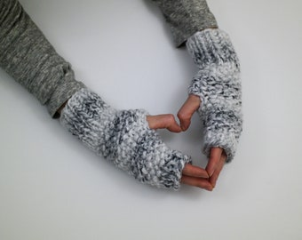 Fingerless gloves knit- Winter gloves - chunky arm warmers gloves