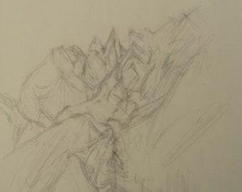 Alberto Giacometti - Original lithograph.