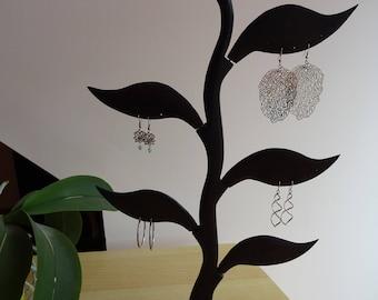 earring holder, jewelry holder, earring, jewelry for women, decorative wood jewelry wood jewelry display holder