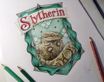 Harry Potter - Hogwarts - Slytherin Crest