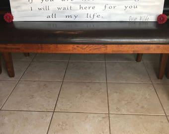 Oscar Wilde - Wooden Sign