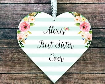 Sister Signs Sister Plaque Sister Gift for Sister to Sister Brother to sister Personalized Sister gift ideas Sister Birthday Sister wall art