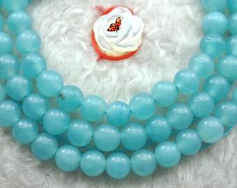 Amazonite smooth round beads 4mm,93 pcs