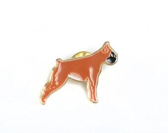 Dog enamel pin, dog lapel pin, dog pin, boxer dog, dog brooch, boxer dog brooch, dog badge, animal pin, animal brooch,pin badge,backpack pin