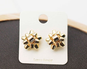 Gift Wrapping Bow Stud Earrings ,Ribbon earrings, Bow Stud, Tied Bow earrings
