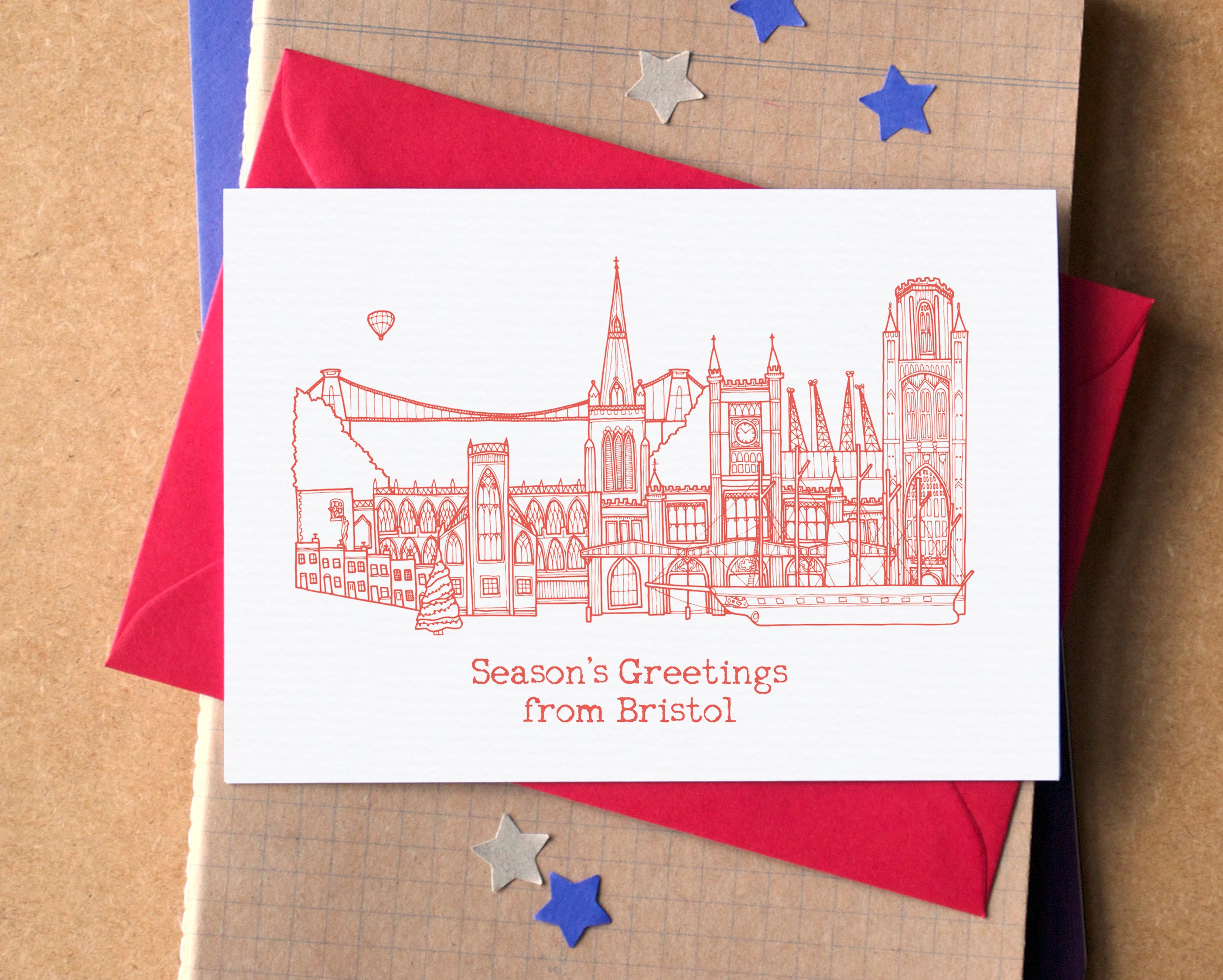 City skyline christmas cards cityscape christmas cards uk zoom kristyandbryce Images