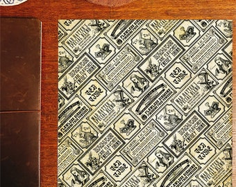 Alice in wonderland - labels - vintage style papers for wrapping, scrapbooking, or paper crafting!