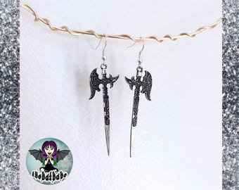Axe Sword Earrings