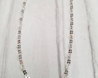 Sterling silver chain choker