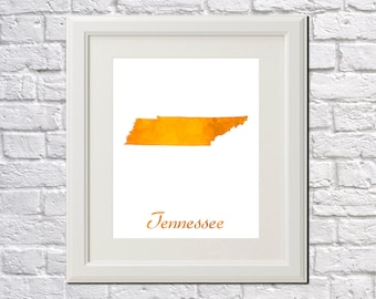 Tennessee State Map Tennessee Print Tennessee Art Tennessee State Outline Tennessee Home Decor Wall Art