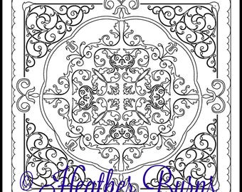 Coloring Page/Celtic Coloring/Adult Coloring/Colouring Page/Celtic Mandala