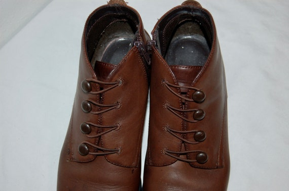 Vintage Size Brown 1980s 7 Baker Ankle Boots Women Liz Leather fExCxw