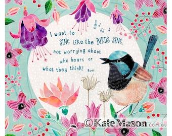 Fee Wren Song Bird Kunstdruck