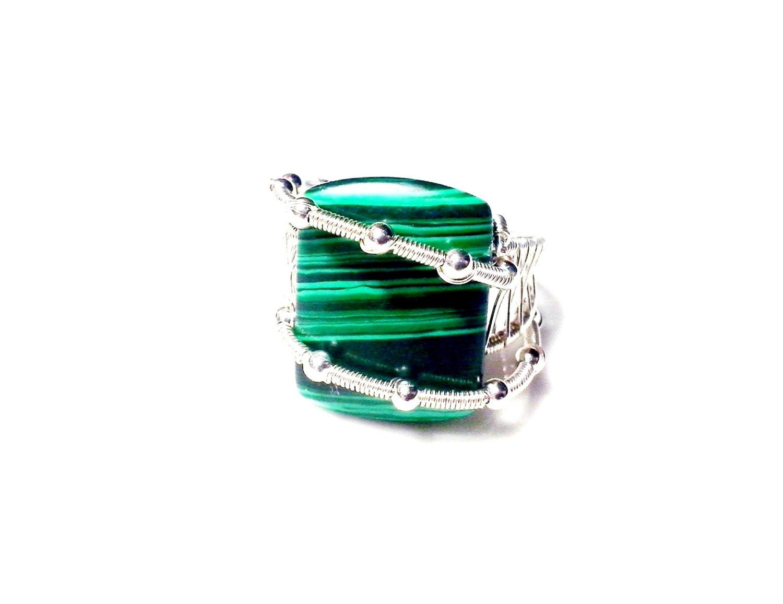 Malachite Ring Tutorial Wire Wrap Jewelry Tutorial Wire Ring ...