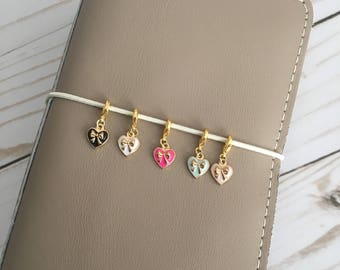 Itty Bitty Heart Charms (Set of 5)