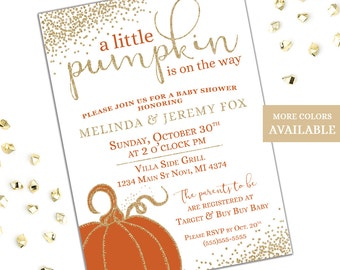 Fall baby shower etsy more colors fall baby shower invitations filmwisefo