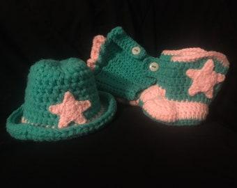 Crochet Baby Cowboy Photo Prop