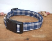 Dog Collar. Homespun. Blu...