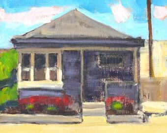 San Diego Landscape Painting- Purple House in Hillcrest