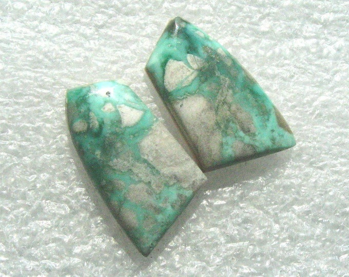Variscite matched earring cabochons
