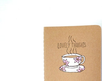 Small gifts for women, Thoughtful gift Gratitude journal, Moleskine, Writing journal, Blank notebook, Unique gifts, Meaningful gifts tea cup